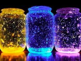hacer un frasco que brille en la oscuridad